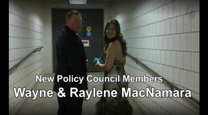 New Policy Council Members Wayne & Raylene MacNamara